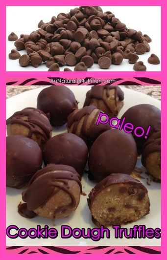 To Die For! Chocolate Chip Cookie Dough Truffles (paleo, gluten free, grain free, low-carb)