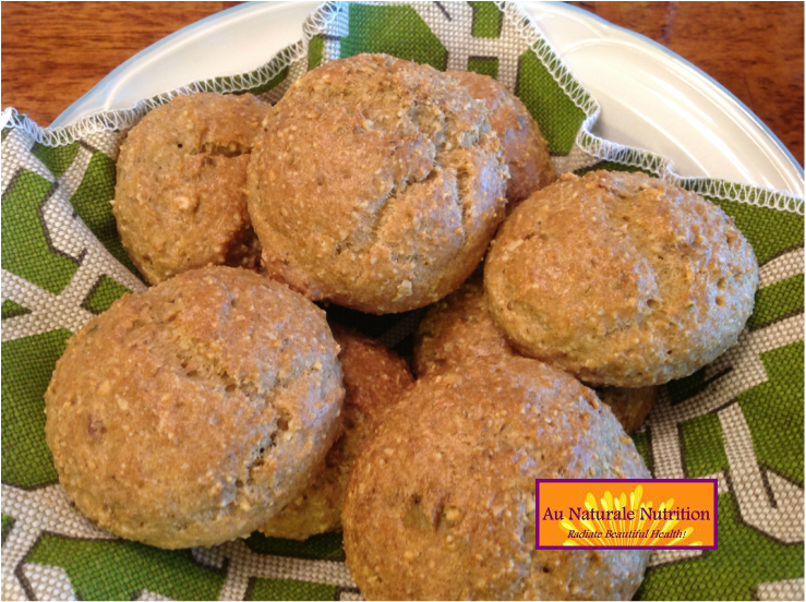 Seeded Dinner Rolls - Au Naturale!  Grain & gluten free, lots of fiber, and super delicious!  Paleo.  By Jenny @ www.AuNaturaleNutrition.com
