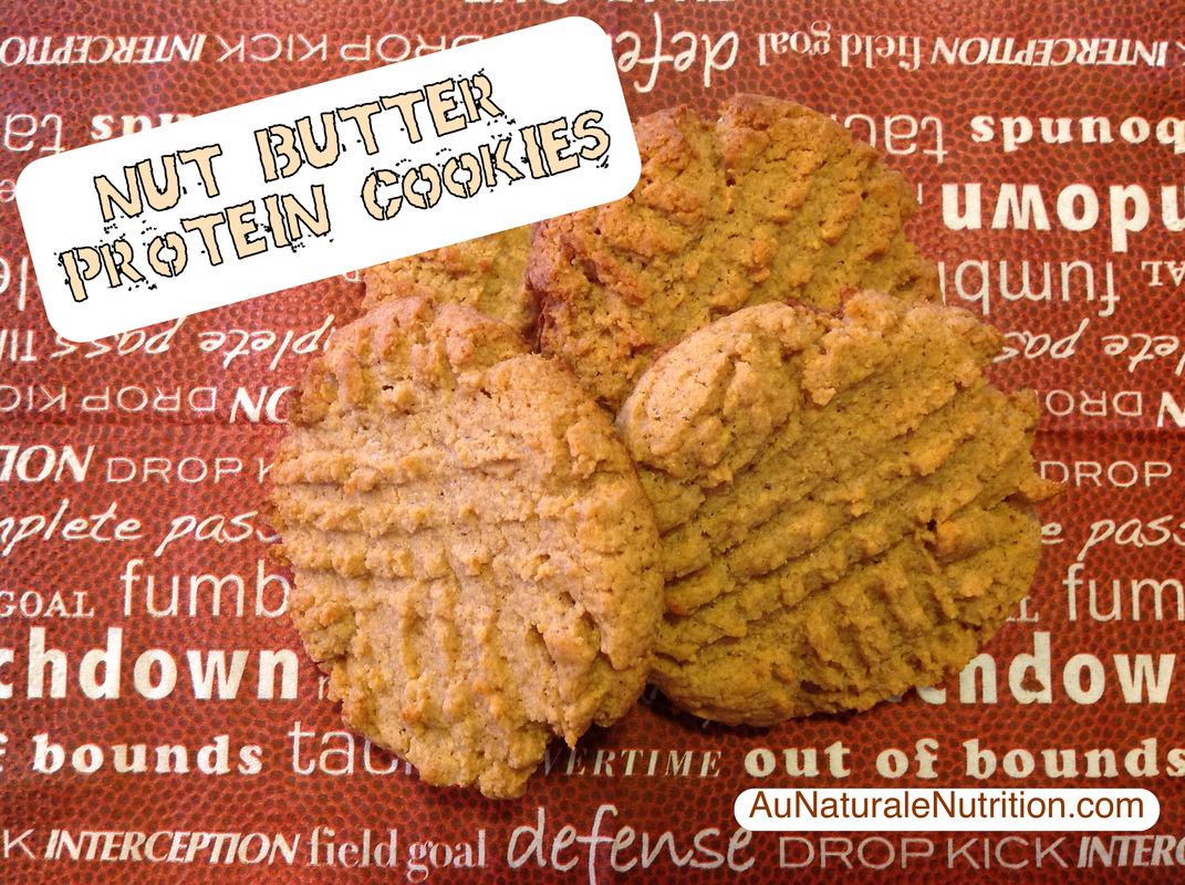 Nut Butter Protein Cookies.  (grain & gluten free)  By www.aunaturalenutrition.com