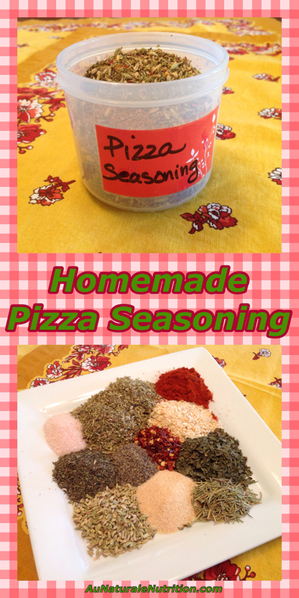 Pizza (and Italian) Seasoning.  A perfect blend of spices for a great classic taste!