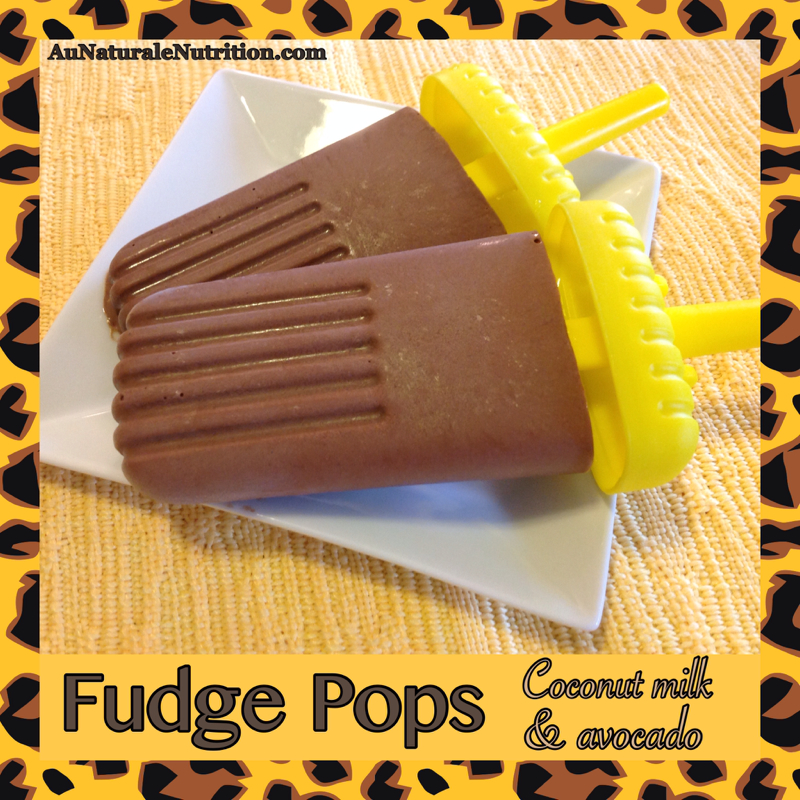 Frozen Fudge Pops! With coconut milk and avocado. Super creamy ...