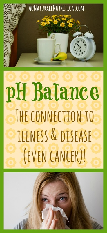 What's pH got to do with it?  An Acidic Body and The Connection to Disease/Cancer.  By Jenny at www.AuNaturaleNutrition.com