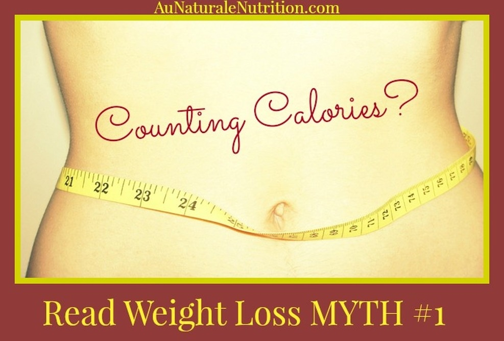 Are you counting calories to lose weight?  There are good calories and bad calories.  They are not all equal.  Calories from proteins, fats, and carbohydrates  act very differently in your body.  Read Weight-loss Myth #1 and understand why it's probably futile. By Jenny at www.AuNaturaleNutrition.com