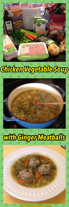 Chicken Vegetable Soup with Ginger Meatballs.  An ultra-nourishing, whole-food meal!