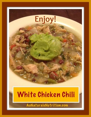 Cluck, Cluck!  Why it's important to buy organic chicken and a delicious recipe for White Chicken Chili.