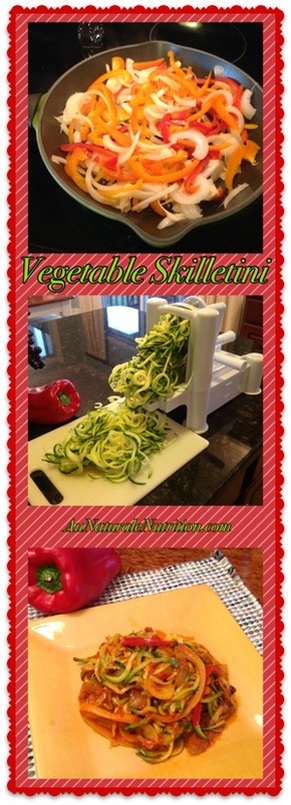Vegetable Skilletini - Au Naturale! A delicious, nourishing side-dish or a whole meal. It's a great new way to enjoy your veggies! By Jenny at www.AuNaturaleNutrition.com