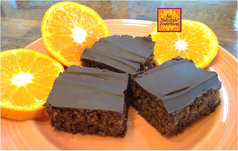 Orange Dream Cake - Au Naturale!  (gluten and grain-free, paleo).  This incredible cake makes you feel a little regal because it's so rich and decadent!    Feel free to put on a crown or tiara while you enjoy it.  ;-)