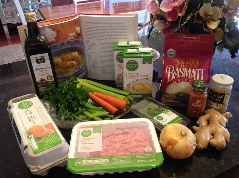 Chicken Vegetable Soup with Ginger Meatballs.  An ultra-nourishing, whole-food meal!  At www.AuNaturaleNutrition.com