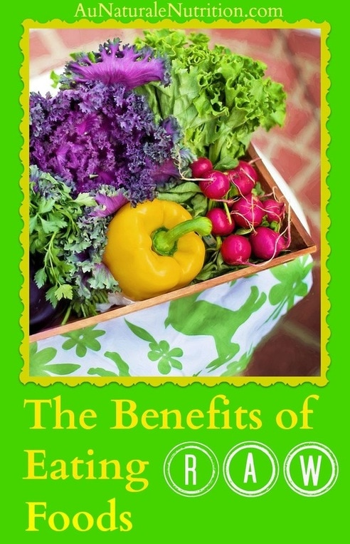The Benefits of Raw Foods :  a lesson on benefits of enzyme preservation due to eating raw foods.  Plus, A perfect & super easy recipe for all the lovely fruits and vegetables from your (or your neighbor's) garden.  By Jenny at www.aunaturalenutrition.com