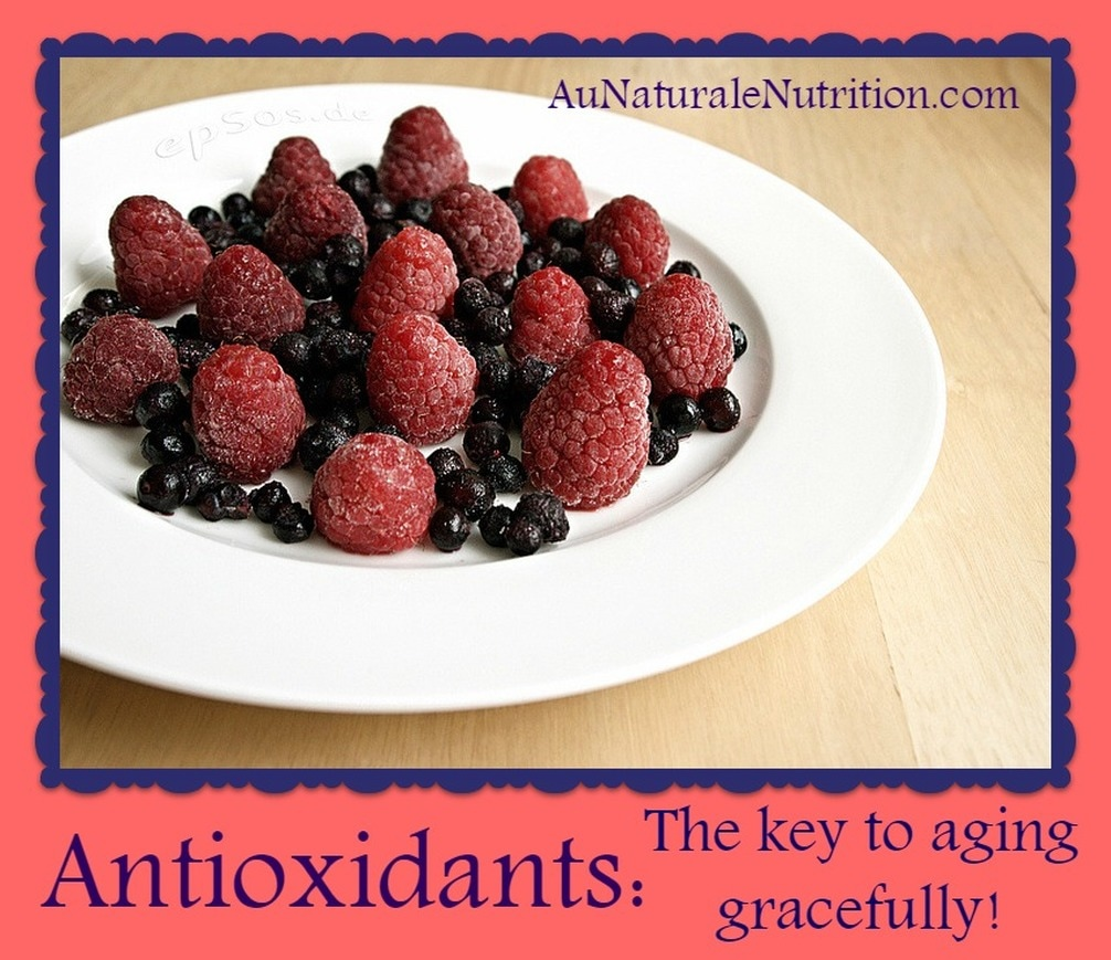 Be Beautiful with Antioxidants:  The sources & how the foster health and beauty.  Plus, how they prevent cellular damage, aging, and disease.  by Jenny at www.AuNaturaleNutrition.com
