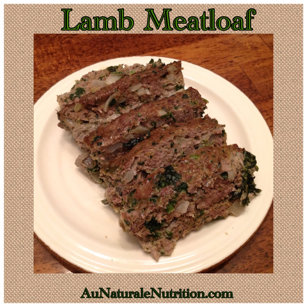Lamb Meatloaf with homemade Greek Seasoning - Au Naturale! Opa!  (Paleo, gluten-free)  from www.aunaturalenutrition.com