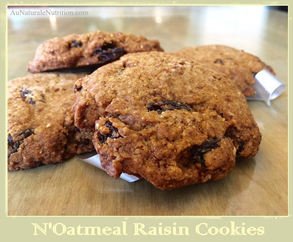 These cookies contain sprouted flax meal, natural sugars, fiber, and healthy fats. They taste like a decadent treat from the finest bakery, but are a much healthier, guilt-free option. N'oatmeal cookies for everyone! YUM!